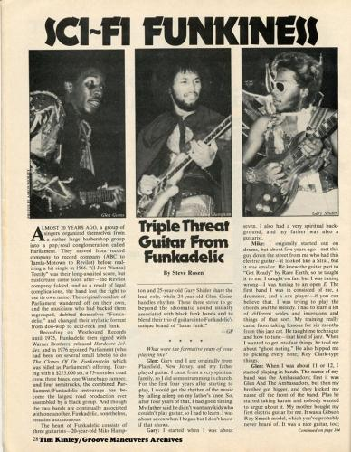 Funkadelic - Guitar Player Magazine 1977