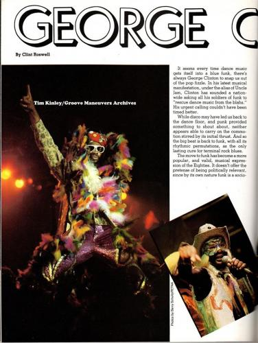George Clinton - 1981 Magazine Article