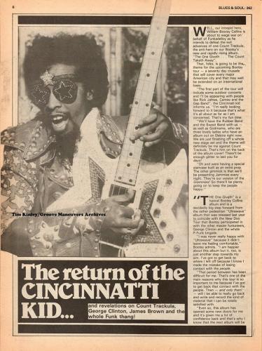 Bootsy - Blues and Soul Magazine Aug 1982