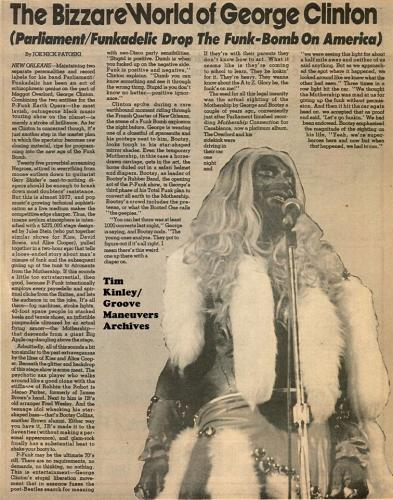 George Clinton - American Music Press in San Francisco July 1993