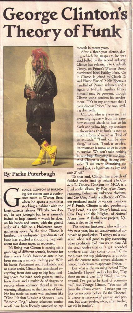 George Clinton - Rolling Stone 10-5-1989