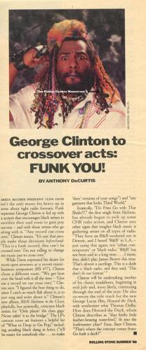 George Clinton - Rolling Stone 1986