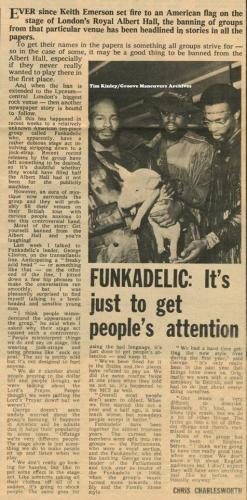Funkadelic - Melody Maker May 8th 1971
