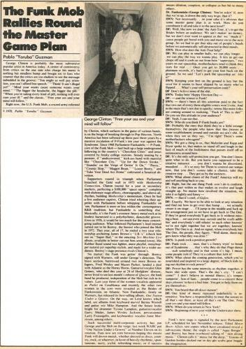 George Clinton - Soho Weekly News November 30 1978