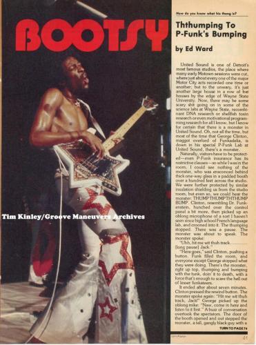 Bootsy - Creem 1978