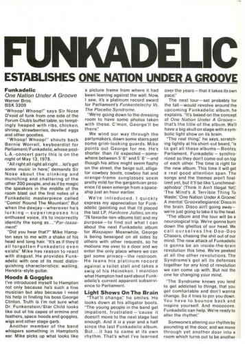 Funkadelic - UK pub 1978