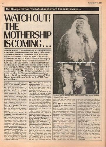 George Clinton - Blues and Soul Mag Interview 1978