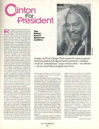George Clinton - Up Magazine Feb 1993