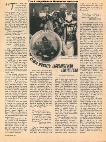 Bernie Worrell - Soul newspaper July 1979