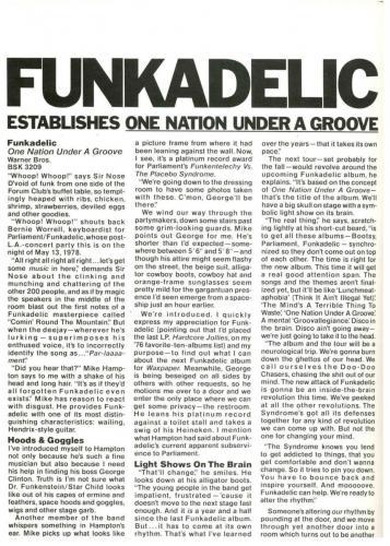 Funkadelic - UK pub 1978
