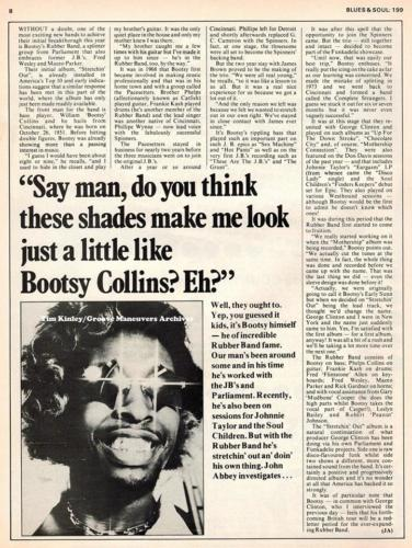 Bootsy - Blues and Soul June 1976